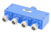 50 Ohm 4 Way N Power Divider From 12 GHz to 18 GHz Rated at 30 Watts