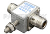 Type N F/F In/Out Coax RF Surge Protector, DC - 3GHz and 1GHz - 2GHz, DC Pass, 2kW, None, 150 V Max., 5kA, Gas Discharge Tube