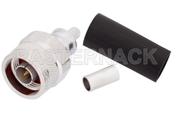 N Male Connector Crimp/Non-Solder Contact Attachment for LMR-200, PE-C200