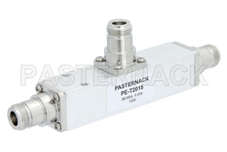Low PIM 15 dB N Unequal Tapper Optimized For Mobile Networks From 350 MHz to 5.85 GHz Rated to 300 Watts