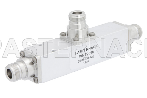Low PIM 13 dB N Unequal Tapper Optimized For Mobile Networks From 350 MHz to 5.85 GHz Rated to 300 Watts