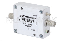 11 dBm P1dB, 10 MHz to 3 GHz, Gain Block Amplifier, 15 dB Gain, 3 dB NF, SMA
