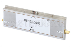 47 dB Gain, 20 Watt P1dB, 3.1 GHz to 3.5 GHz, High Power Amplifier, SMA Input, SMA Output, 3.5 dB NF