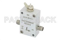 10 MHz to 6 GHz SMA Bias Tee Rated to 2500 mA And 100 Volts DC