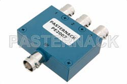 3 Way BNC Wilkinson Power Divider From 2 MHz to 200 MHz Rated at 1 Watt