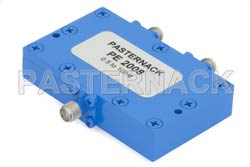 2 Way SMA Wilkinson Power Divider From 500 MHz to 1,000 MHz Rated at 10 Watts
