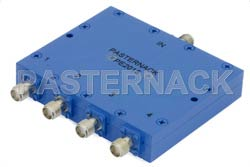 4 Way SMA Power Divider From 2 GHz to 4 GHz Rated at 30 Watts