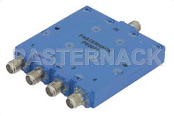 4 Way SMA Power Divider From 12 GHz to 18 GHz Rated at 30 Watts