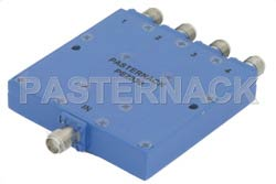 4 Way SMA Power Divider From 8 GHz to 18 GHz Rated at 30 Watts