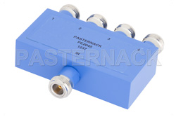 4 Way N Power Divider From 2 MHz to 500 MHz Rated at 1 Watt