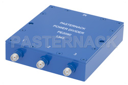 3 Way SMA Wilkinson Power Divider From 690 MHz to 2.7 GHz Rated at 10 Watts