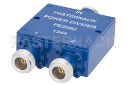 2 Way N Wilkinson Power Divider From 690 MHz to 2.7 GHz Rated at 10 Watts
