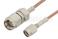 SMA Male to SSMA Male Cable 60 Inch Length Using RG178 Coax