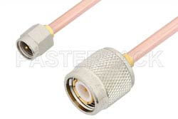 SMA Male to TNC Male Cable 6 Inch Length Using RG402 Coax