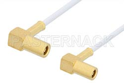 SSMB Plug Right Angle to SSMB Plug Right Angle Cable Using RG196 Coax