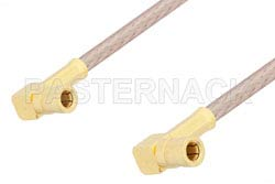 SSMB Plug Right Angle to SSMB Plug Right Angle Cable 24 Inch Length Using RG316 Coax