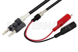 Banana Plug to Alligator Clip Cable 24 Inch Length Using RG223 Coax