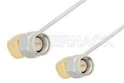 SMA Male Right Angle to SMA Male Right Angle Cable Using PE-SR047AL Coax