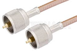 UHF Male to UHF Male Cable Using RG142 Coax