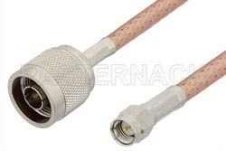 SMA Male to N Male Cable Using PE-P195 Coax