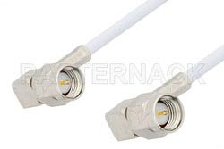 SMA Male Right Angle to SMA Male Right Angle Cable Using RG188-DS Coax, RoHS