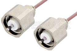LC Male to LC Male Cable Using RG142 Coax, RoHS