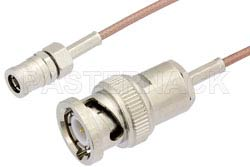 SMB Plug to BNC Male Cable Using RG178 Coax