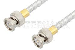 BNC Male to BNC Male Cable Using PE-SR401FL Coax, RoHS