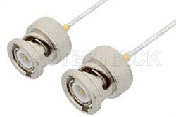 BNC Male to BNC Male Cable Using PE-SR047FL Coax, RoHS