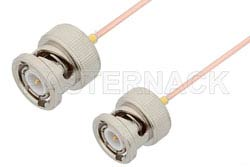 BNC Male to BNC Male Cable Using PE-047SR Coax, RoHS