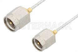 SMA Male to SMA Male Cable Using PE-SR047FL Coax, RoHS