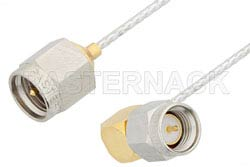 SMA Male to SMA Male Right Angle Cable Using PE-SR047FL Coax