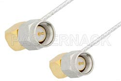 SMA Male Right Angle to SMA Male Right Angle Cable Using PE-SR047FL Coax