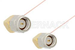 SMA Male Right Angle to SMA Male Right Angle Cable Using PE-020SR Coax, RoHS