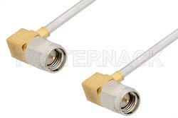 SMA Male Right Angle to SMA Male Right Angle Cable Using PE-SR405AL Coax