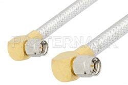 SMA Male Right Angle to SMA Male Right Angle Cable Using PE-SR401FL Coax