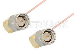 SMA Male Right Angle to SMA Male Right Angle Cable Using PE-034SR Coax, RoHS