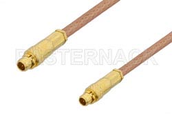 MMCX Plug to MMCX Plug Cable Using RG178 Coax, RoHS