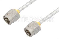 2.92mm Male to 2.92mm Male Cable Using PE-SR405FL Coax, LF Solder, RoHS