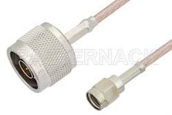 Reverse Polarity SMA Male to N Male Cable Using RG316 Coax