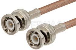 BNC Male to BNC Male Cable Using RG142 Coax, RoHS
