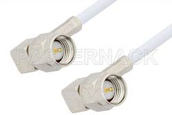 SMA Male Right Angle to SMA Male Right Angle Cable Using RG188 Coax, RoHS