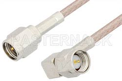 SMA Male to SMA Male Right Angle Cable Using RG316 Coax, RoHS