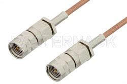 Reverse Thread SMA Male to Reverse Thread SMA Male Cable Using RG178 Coax