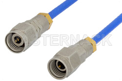 2.92mm Male to 2.4mm Male Precision Cable 24 Inch Length Using 095 Series Coax, RoHS