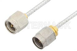 SMA Male to 2.4mm Male Cable Using PE-SR405FL Coax, LF Solder, RoHS