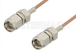 SMA Male to SMA Male Cable Using RG178 Coax, RoHS