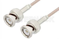 BNC Male to BNC Male Cable Using RG316 Coax, RoHS