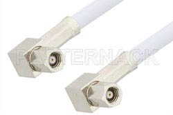 SMC Plug Right Angle to SMC Plug Right Angle Cable Using RG188 Coax, RoHS