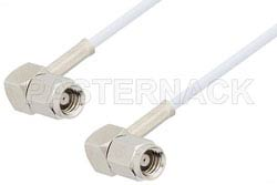 SMC Plug Right Angle to SMC Plug Right Angle Cable Using RG196 Coax, RoHS